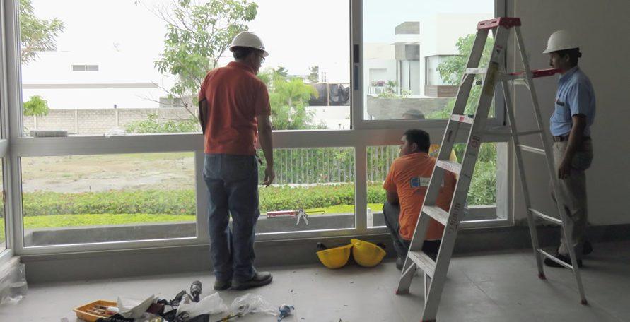 Proceso de instalación de ventanas corredizas